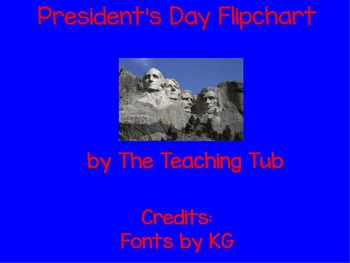 President's Day Flipchart