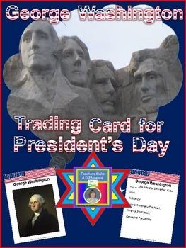 President's Day Freebie:  George Washington Trading Card