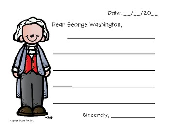 Presidents Day Friendly Letter Template
