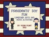 Presidents' Day Fun: Math and Language Arts Activites