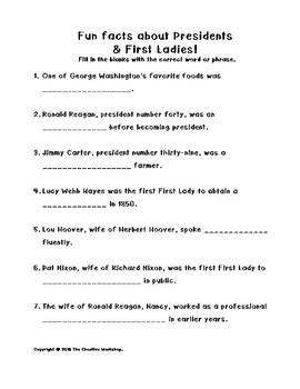 Presidents & First Ladies!