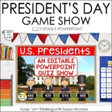 President's Day Jeopardy Style Game Show - Editable