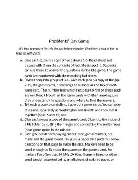 Presidents' Day Game
