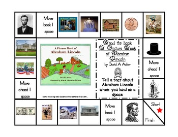 President's Day Game Boards--Washington and Lincoln-retelling facts