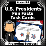 US Presidents Day Activities, 5th 6th Grade Social Studies Task Cards