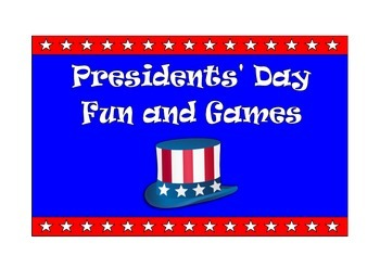 Presidents' Day Games and Puzzles