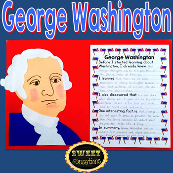 George Washington Craft and Writing Activity grades 3-5