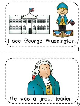 President's Day George Washington  - Emergent Reader, Color by code and more...