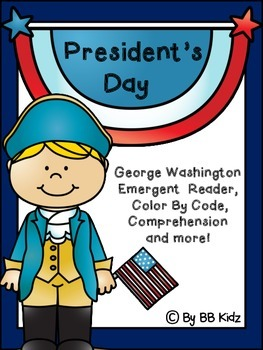 President's Day George Washington  - Emergent Reader, Colo
