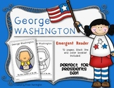 Presidents' Day {George Washington} Emergent Reader for Kindergarten
