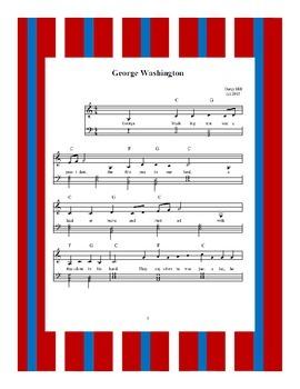 President's Day George Washington Sheet Music