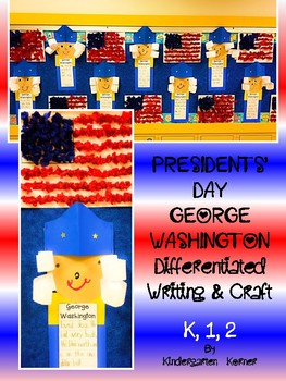 Presidents' Day George Washington Writing and Craft Bullet