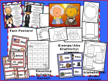 President's Day- George and Abe: Activities for Primary!