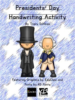 Presidents' Day Handwriting Activity, George Washing & Abraham Lincoln