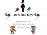 President's Day High Frequency Word Cards