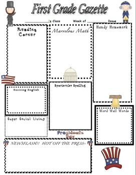 President's Day Home Learning Newsletter