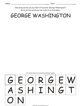 Presidents' Day: How many words can you find?