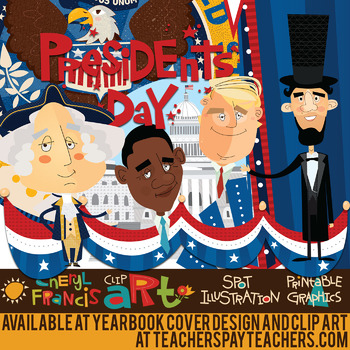 Presidents Day Inauguration Day Clip Art By Yearbook Cover Design And Clip Art