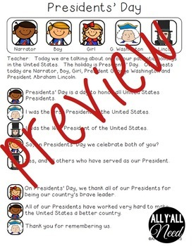 Presidents' Day Informative Reader's Theater