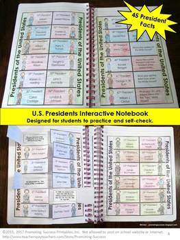 Presidents Day Craftivity, US History Interactive Notebook