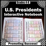 US Presidents Research Project, Presidents Day Interactive Notebook Activity