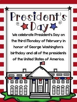 President's Day Interactive Notebook & Informational Posters