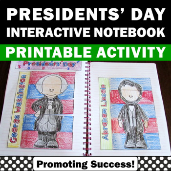 Presidents Day Craftivity Social Studies Interactive Notebook Washington Lincoln