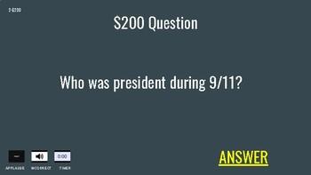 Presidents Day Jeopardy Game (Google Slides)