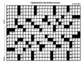 Presidents Day Jumbo Crossword 27 X 17