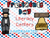President's Day Kinder ELA Pack (8 CCSS Centers)