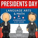 President's Day Language Arts & Math Unit for K-1st
