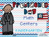 President's Day Kindergarten Math Pack (10 CCSS Centers)