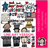 President's Day clip art - LINE ART- by Melonheadz