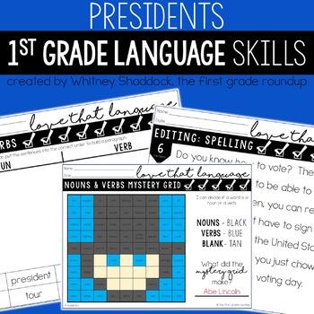 President's Day Language & Grammar Worksheets