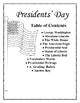 Presidents' Day Lapbook