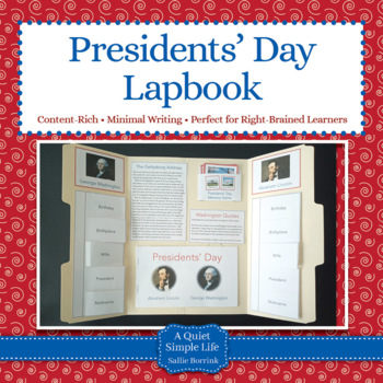 President's Day Unit Activity Lapbook or Interactive Notebook
