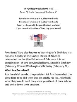 President's Day Lesson Plans