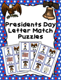 Presidents Day Letter Match Puzzles