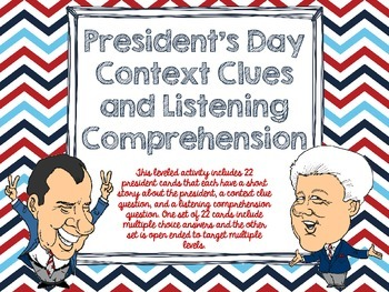 President's Day Listening Comprehension and Context Clues
