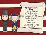 President's Day Literacy Centers for K - 1 Classroom