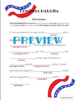 President's Day Literacy Pack!