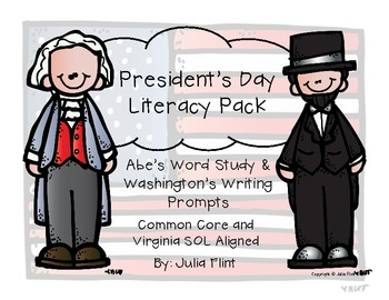 Presidents Day Literacy Pack