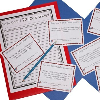 President's Day Literacy Set for 4th - 5th Grade