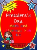 President's Day Literacy and Math Super kit (Updated)