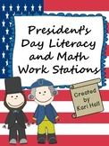 President's Day Literacy and Math Work Stations