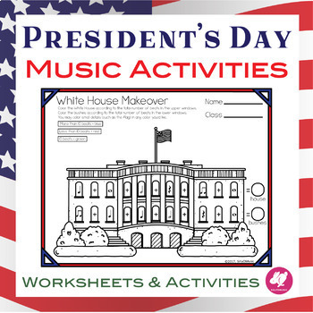 President's Day Music Worksheets, Activities, and Coloring