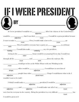 Presidents Day Mad Libs 1684892 on Music History Worksheets