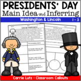President's Day Reading - Main Idea and Inferring