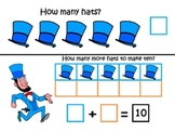 President's Day Making 10 ~ Common Core ~ Math Center ~ Te