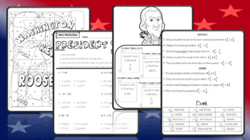 Presidents' Day Math Activities